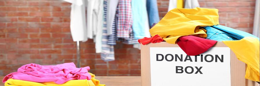 Nytt år ny hållbar du clothes kläder donate